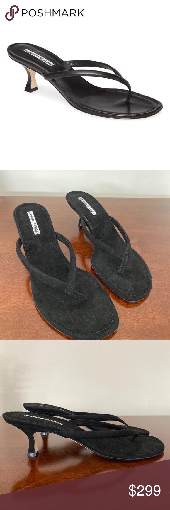 Manolo Blahnik Black paterno kitten heels 38.5 Manolo Blahnik Black paterno kitt…