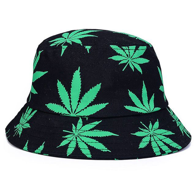 Maple leaf bucket hat men's print cap foldable cotton summer women outdoor fishing hats hip hop cap bucket hat beach hats