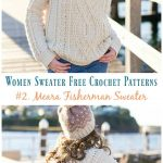 Meara Fisherman Cabled Sweater Crochet Free Pattern - Fall Winter Women Sweater