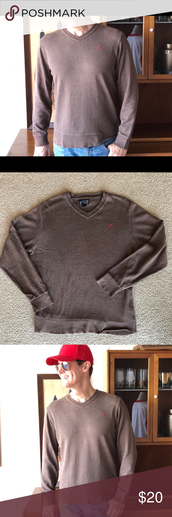 Men's Brown Volcom Sweater Nice, Fall, Winter M Here is a great looking Men'…