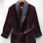 Men Smoking Jacket Quilted Wine Velvet Elegant Hosting Evening Party Wear Coat