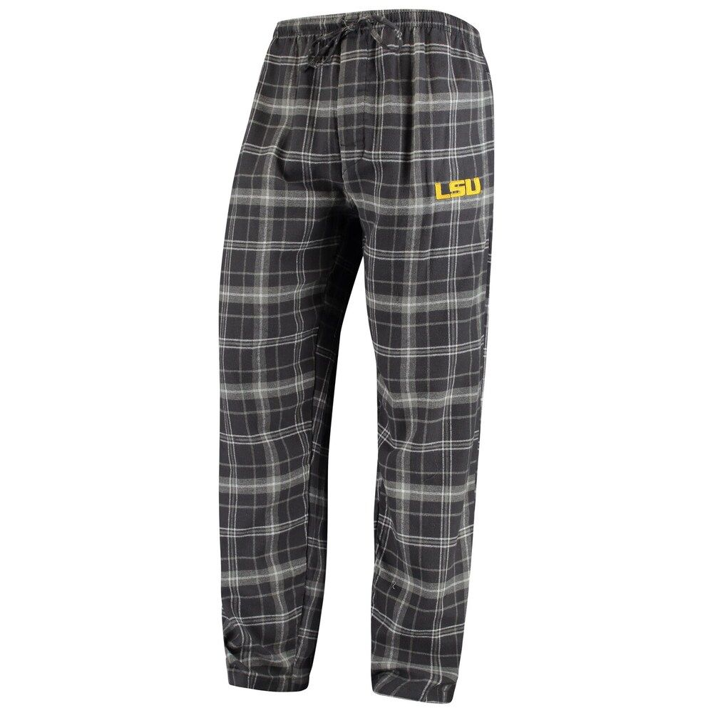 Men's Concepts Sport Charcoal/Gray LSU Tigers College Ultimate Flannel Pants