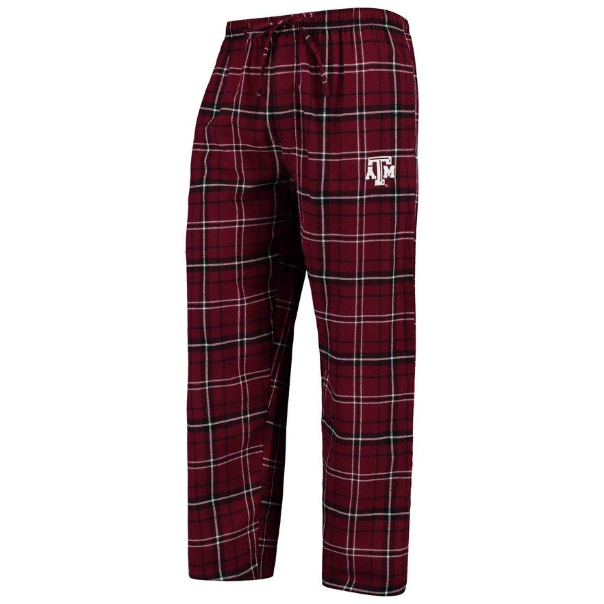 Men's Concepts Sport Maroon/Black Texas A&M Aggies College Ultimate Flannel Pants, Size: Small, Red
