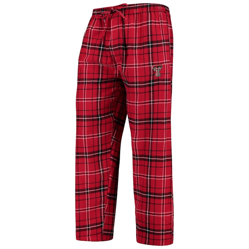 Men's Concepts Sport Red/Black Texas Tech Red Raiders College Ultimate Flannel Pants, Size: Large, TXT Red