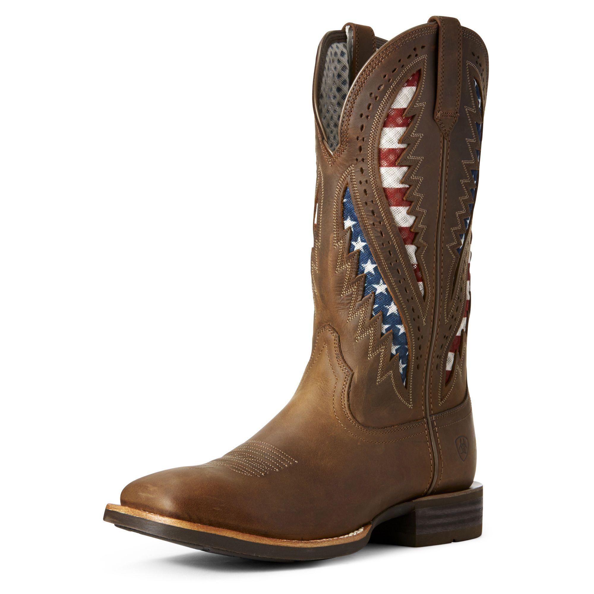 Men's Quickdraw VentTEK Western Boots in Distressed Brown, size 8.5 D / Medium by Ariat
