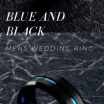 Men's Wedding Ring - A Collection Of Blue and Black Rings