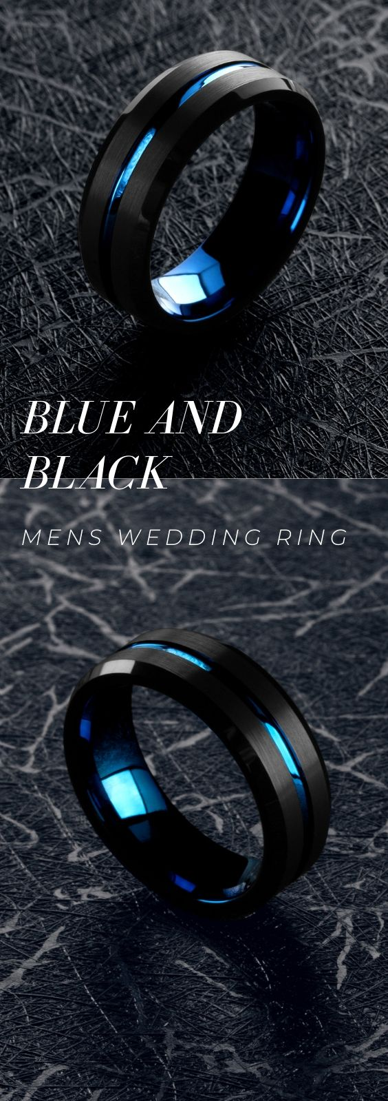 Men's Wedding Ring – A Collection Of Blue and Black Rings
