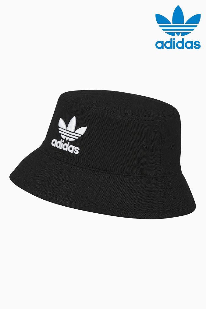 Mens adidas Originals Black Bucket Hat –  Black