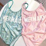 Mermaid vintage one piece swimsuit Suit- High Cut Vintage Swimsuit - One piece - Swimwear Women's Sexy Bathing Suit by CakeLife®