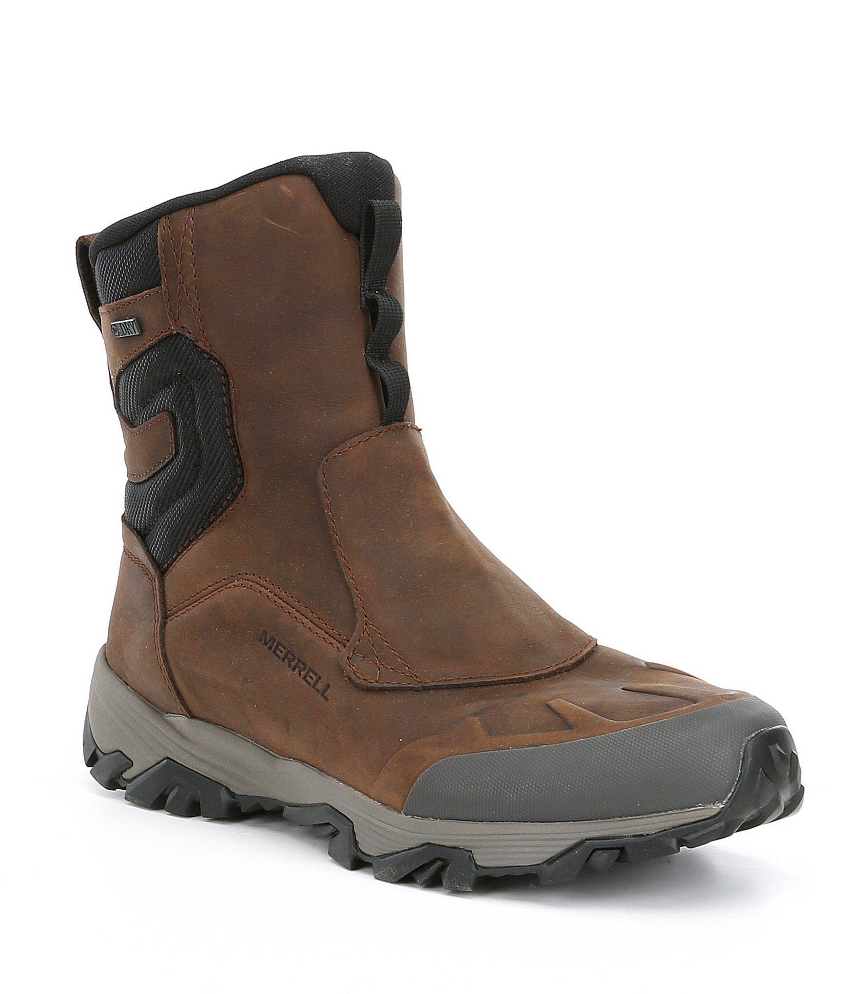 Merrell Men's Coldpack Ice 8 Zip Polar Suede Waterproof Winter Boots – Copper Mountain 8M