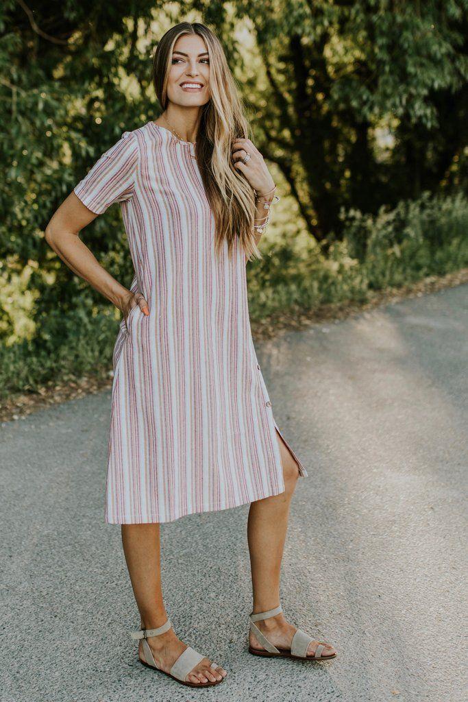 Mesa Stripe Dress