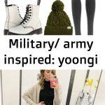 Military/ army inspired: yoongi