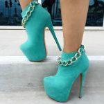 Mint Platform High Heel Booties