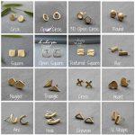 Mismatched Earrings Stud earrings gold Single earring single stud earring mix match earrings mismatched stud earrings Gold post earring