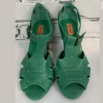 Miz Mooz Womens Green Strappy Heels Size 6.5M Miz Mooz Womens Green Strappy Heel...