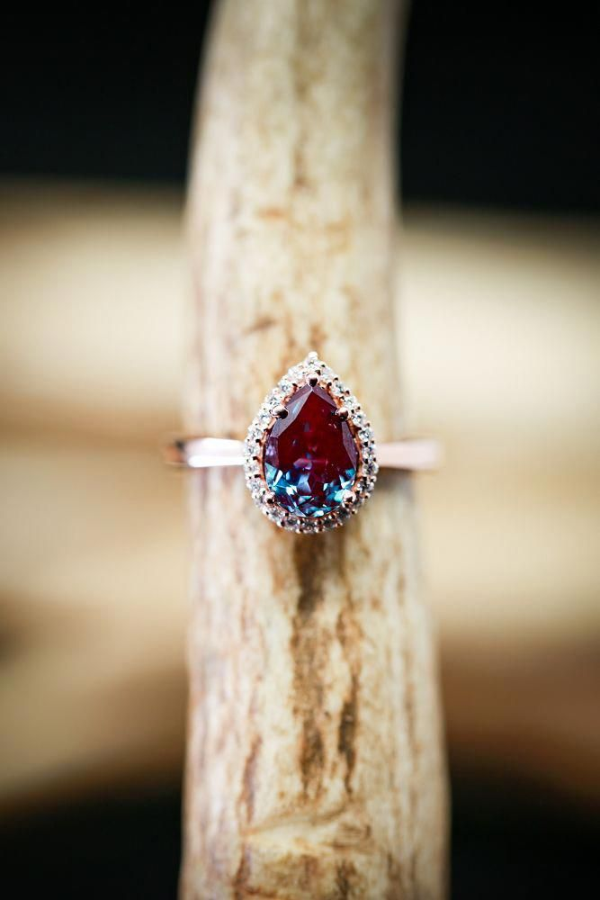 Moissanite engagement ring vintage rose gold engagement ring Art deco halo diamond Wedding Flower Bridal set Jewelry Floral Anniversary gift
