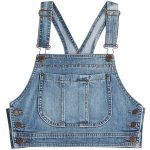 Moschino Denim Crop Top ($220) found on Polyvore featuring women's fashion, tops...