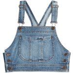 Moschino Denim Crop Top ($220) found on Polyvore featuring women's fashion, tops...