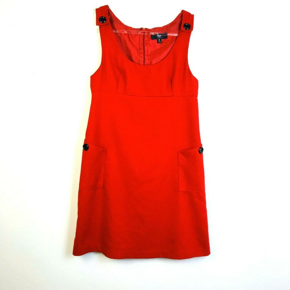 Mossimo Red Jumper Women's Small Big Pockets Casual Dress Polyester Blend  #Moss…