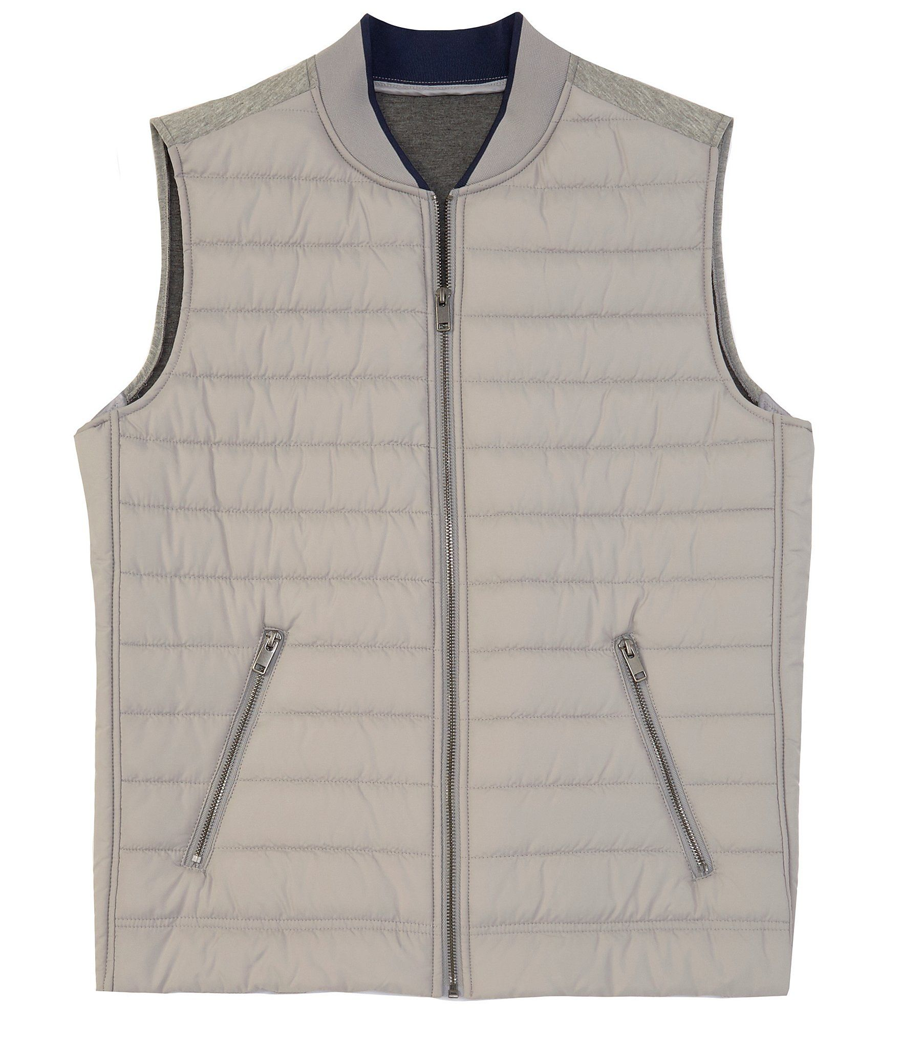 Murano Mixed Media Quilted Vest | Dillard's