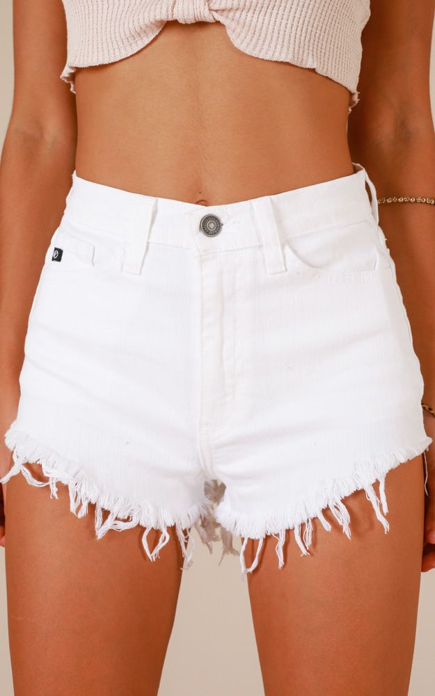 My Story Shorts In White Denim Produced