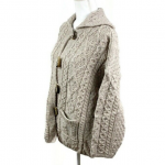 NEW Connemara Made In Ireland Cable Knit Cardigan Connemara Knitwear Women's L L...
