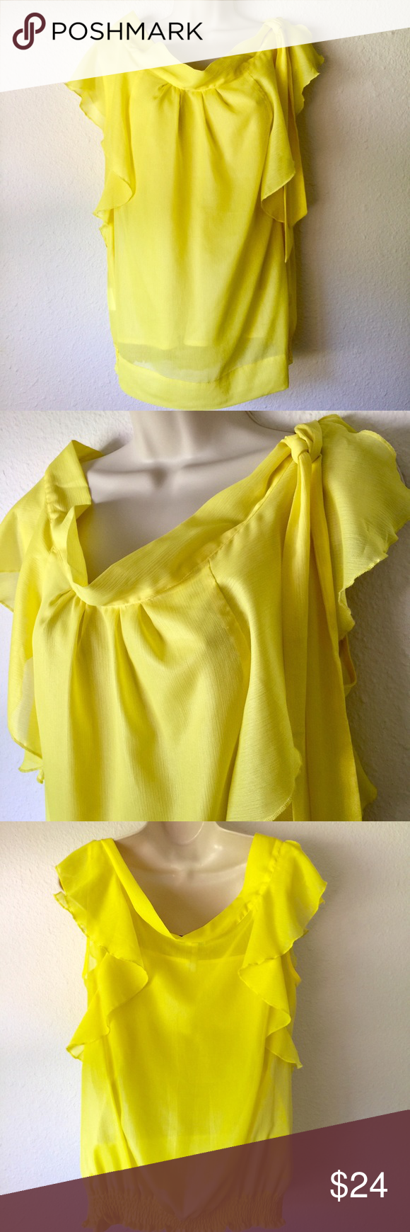 NEW LISTINGMellow yellow blouse Be the bright & bold woman that you are in this …
