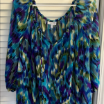 NWOT Blue Purple Fashion Bug Peacock Plus Size Top NWOT Blue Purple Fashion Bug ...