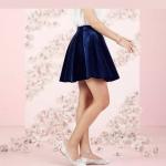 NWT LC Lauren Conrad Blue Velvet Skirt Runway NWT LC Lauren Conrad Blue Velvet S...