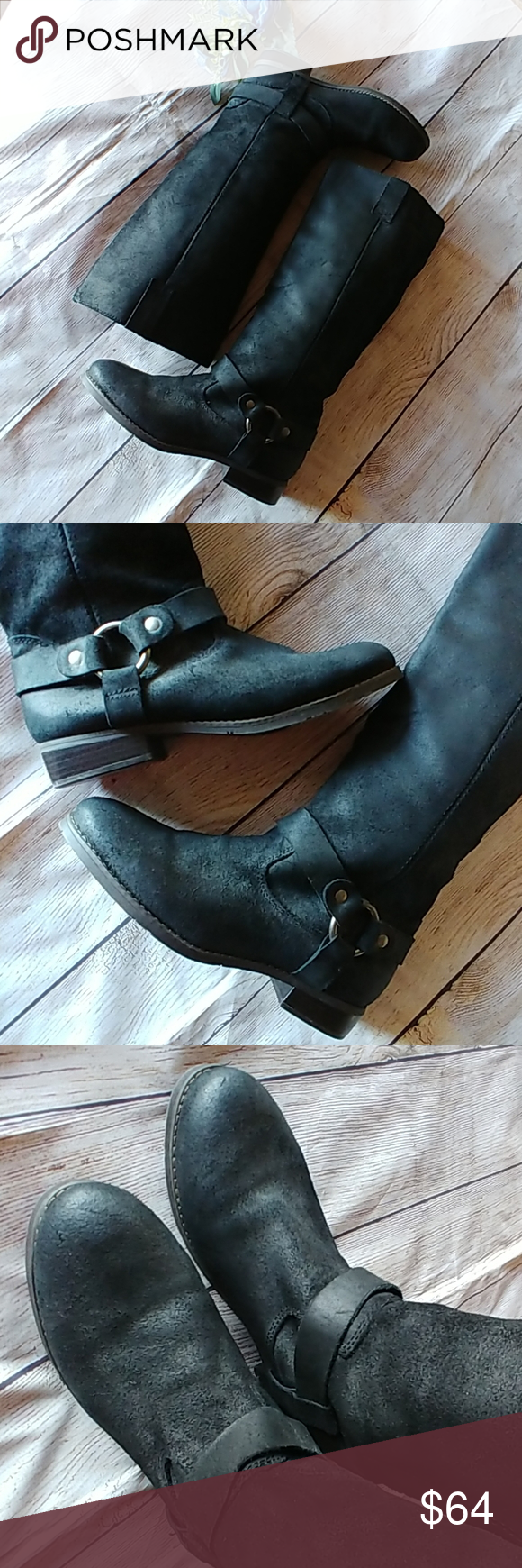 NWT Nordstrom Tall Leather Harness Boots How classic are THESE! I SO wish they w…