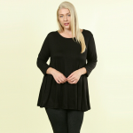 NWT Solona PLUS Essential Tunic A wardrobe must! Solid black, lightweight rayon ...