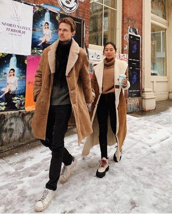 NYFW 2019 Almaz Long Shearling Coat and Proenza Schouler Platform Boots (Song of Style)