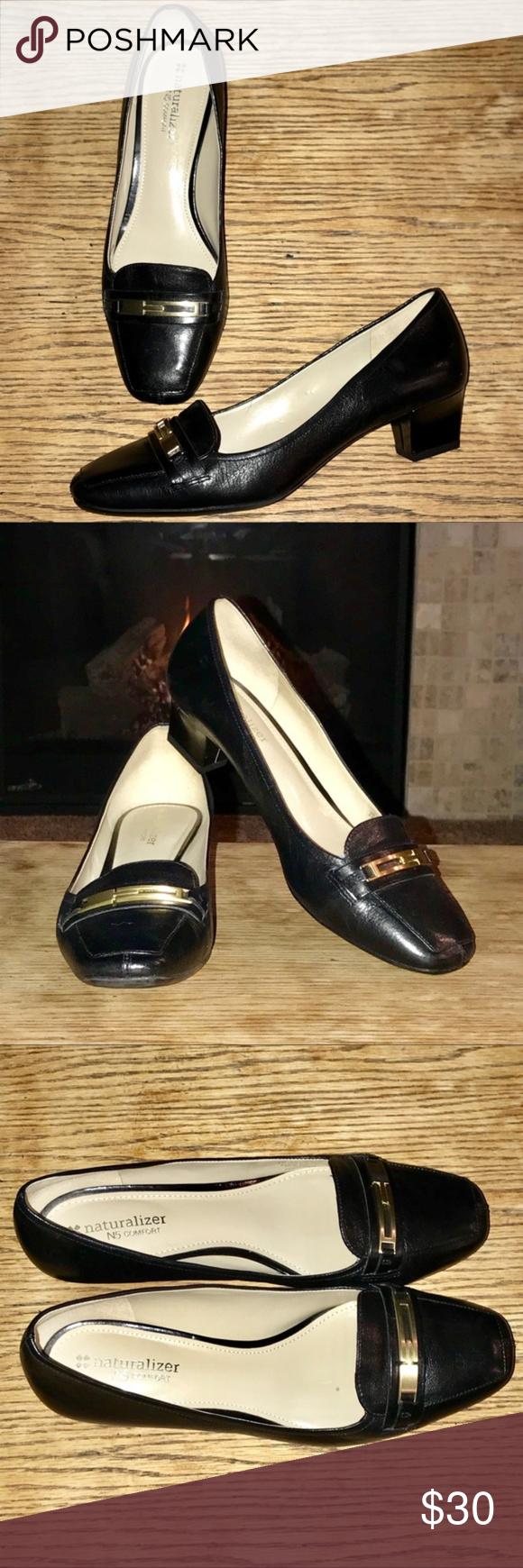 Naturalizer N5 Comfort Black Leather Pumps – Flynn Beautiful and versatile pump …