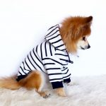 Navy Black Red striped Hoodie, Dog hoodie, Cute Dog clothes, Pet clothes, Fashion for dogs puppies, puppy tshirt, pup pullover, tops for dog