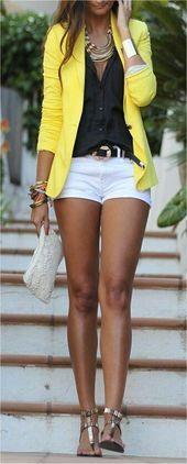 Nette Ausstattungs-Ideen # 8 welche die Farbe Gelb kennzeichnen#fashionaccessori…