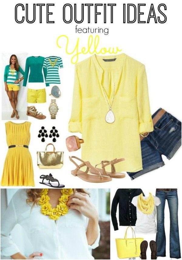 Nette gelbe Ausstattungs-Ideen für Damen