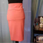 Never Worn High Waist Stretch Pencil Skirt This salmon colored pencil skirt is a...