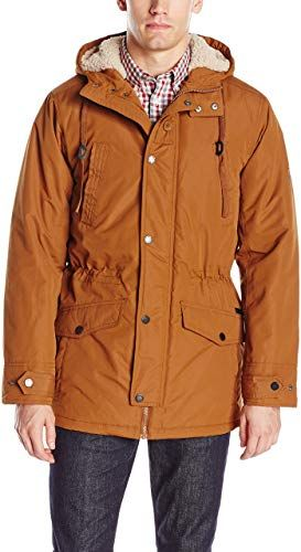 New Ben Sherman Men's Parka Jacket Sherpa Hood Lining online shopping