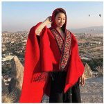 New Fashion scarf red hooded cloak online