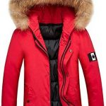 New IZHH Mens Parka Jacket Down Coat Hood Slim Zip Hoodie Winter Coat Outwear online