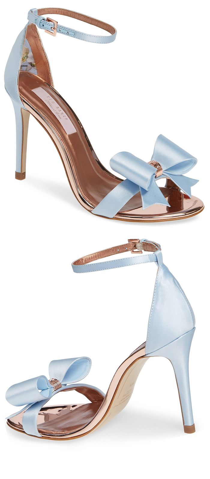 New Pastel Blue, Baby Blue, Cornflower Blue Bow Heels. Something Blue Bridal Sho…