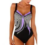 New Season Beach Fashion Ladies Retro Style One Piece Swimsuit