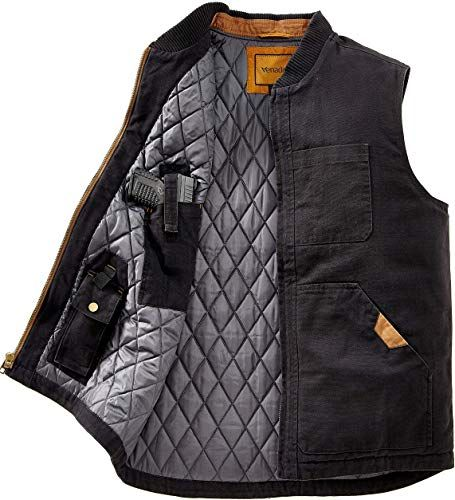New Venado Concealed Carry Vest Men – Heavy Duty Canvas – Conceal Carry Pockets online shopping