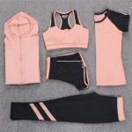 New Yoga Suits Women Gym Clothes Fitness Running Sports Set Plus Size