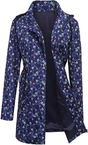 New ZEGOLO Women's Raincoats Windbreaker Rain Jacket Waterproof Hooded Outdoor Trench Coats online