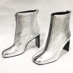 New rag & bone Ellis Front Zip Ankle Boots Silver NWOT rag & bone Ellis Front Zi...