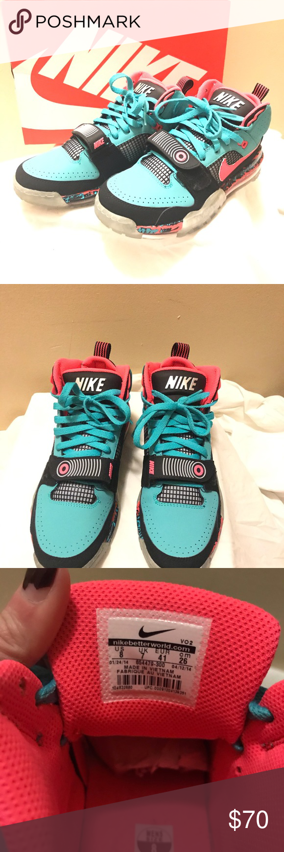Nike Bo Jackson South Beach Great MIAMI colors and hard to find Nike Shoes Sneak…