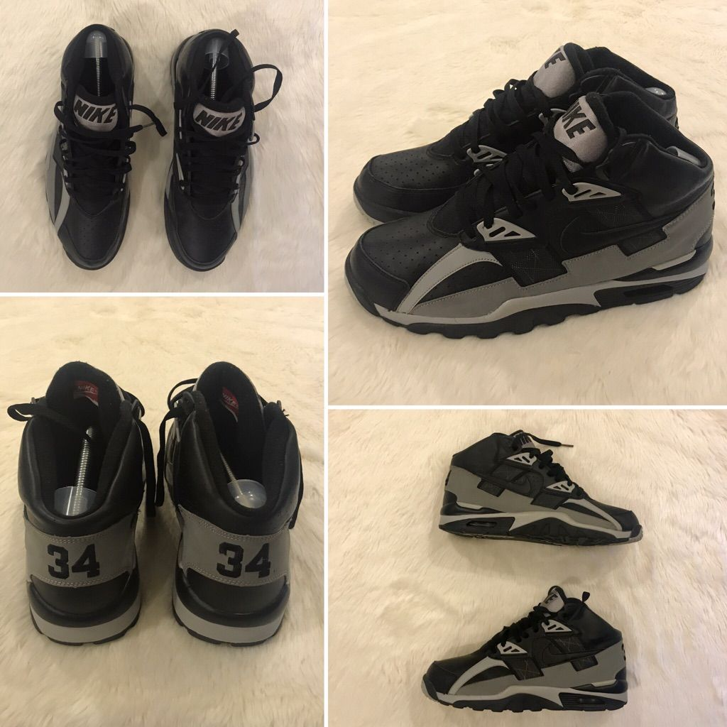 Nike Shoes | Nike #34 Bo Jackson Air Trainer Sc High Sneakers | Color: Black/Gray | Size: 12