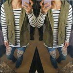 OLIVE ANORAK UTILTY VEST Give your outfit a flare of the military trend with thi...