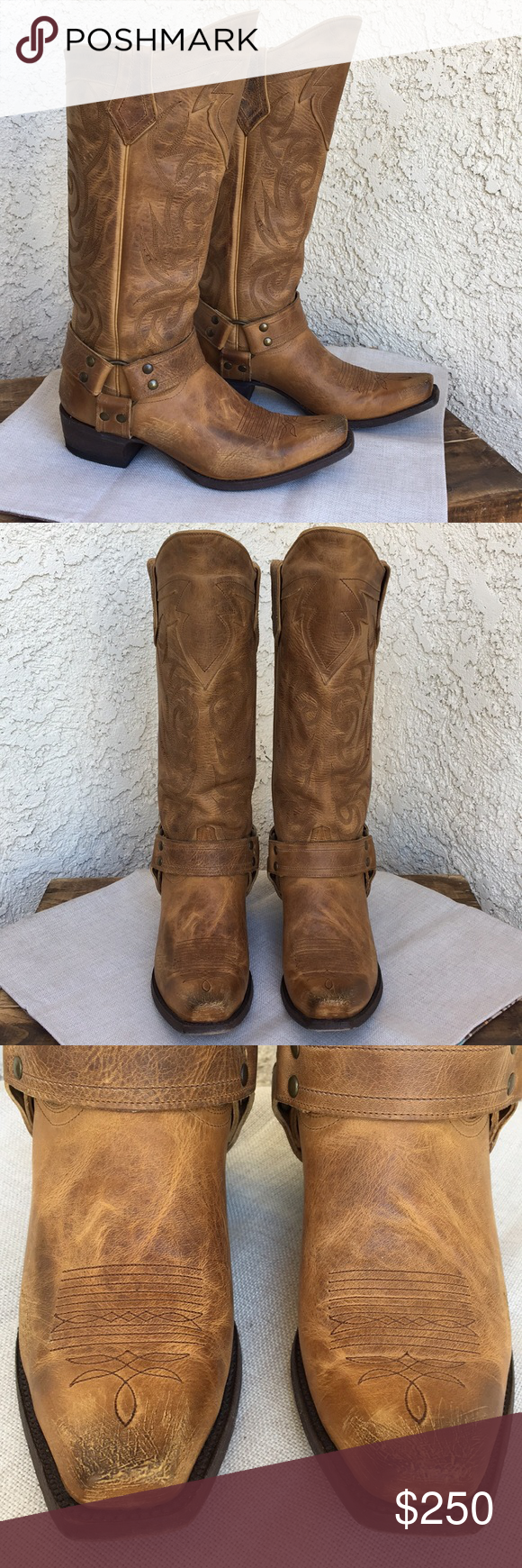 Old Gringo Lanachaz Leather Harness Boots 8.5 These are pair of Old Gringo Lanac…
